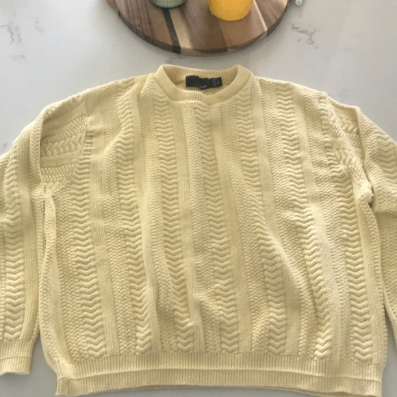 5de1dfc60fc5 Vintage Sweaters | Light Yellow Sweater | Poshmark